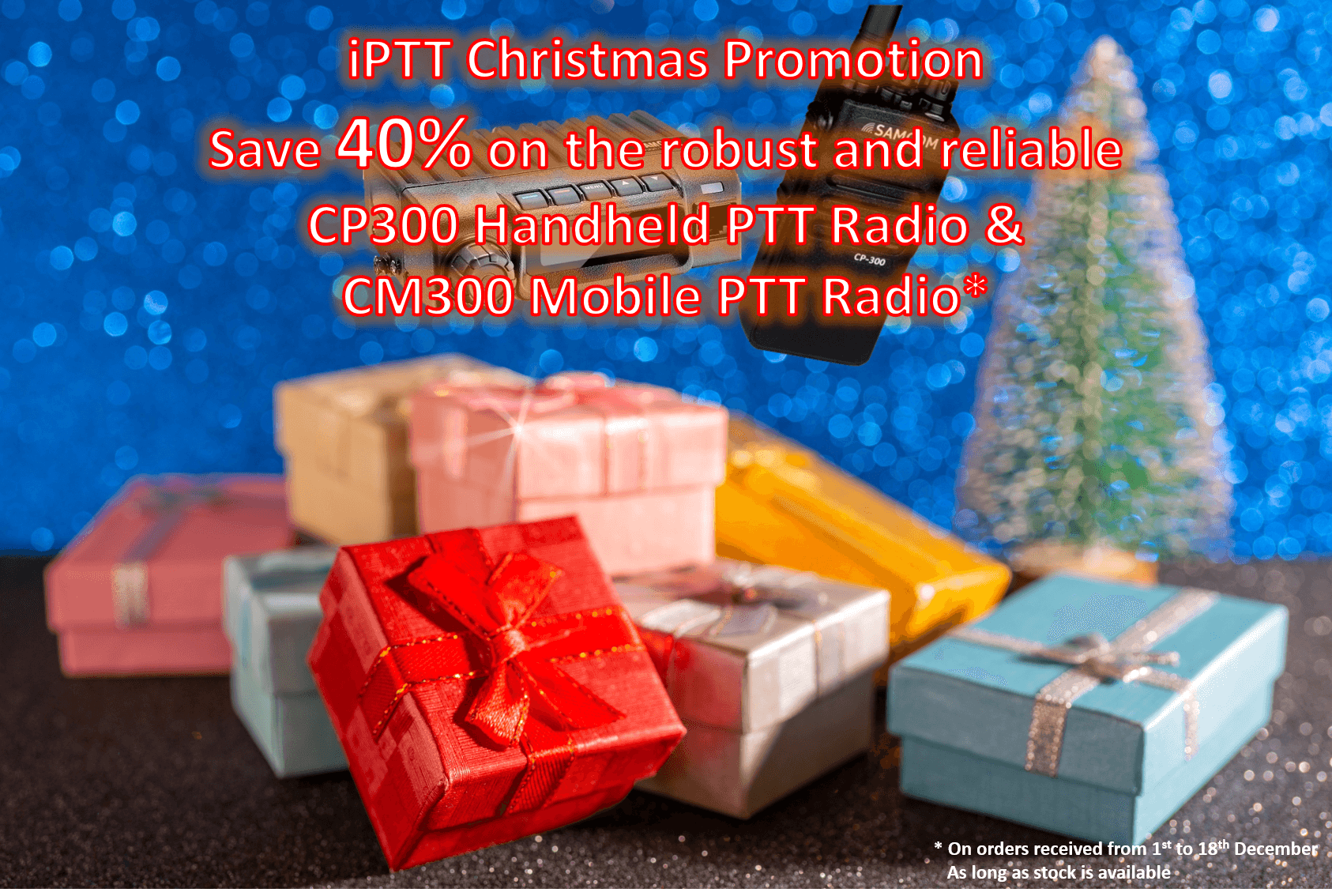 PTT Radio CP300 and CM300 40% Off RRP